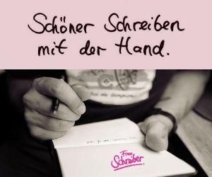 Schöner schreiben mit der Hand.